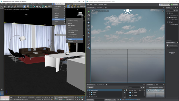 Autodesk 3ds max vr connect viewports