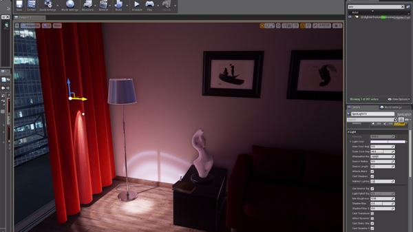 Enlighten & Unreal Engine 4 Edit Dynamic Lights in Real Time