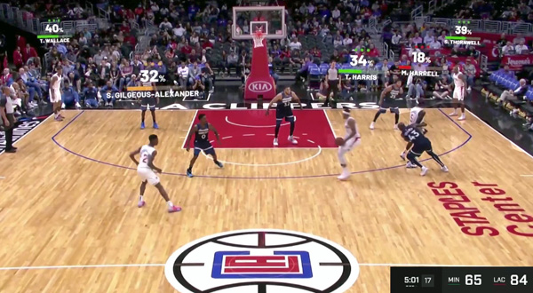 AWS clippers CourtVision