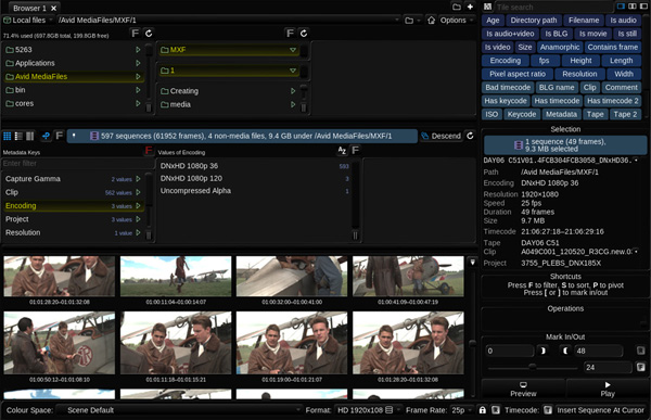 Filmlight baselight flux manage