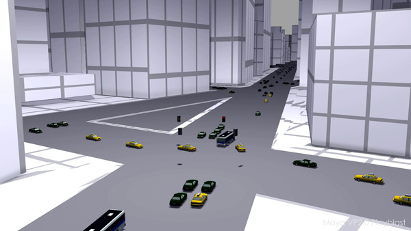 Golaem6 Traffic viewport