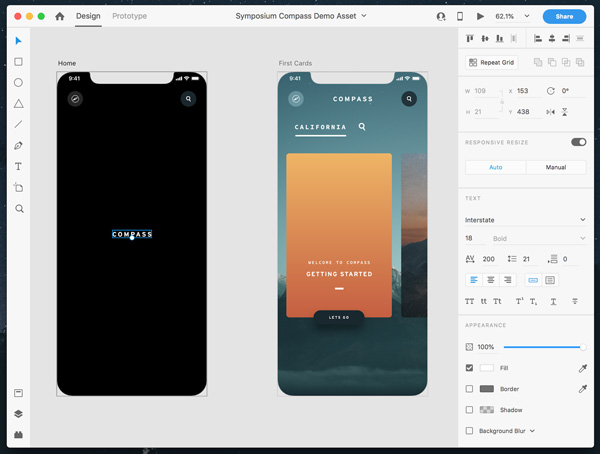 Adobe xd design mode