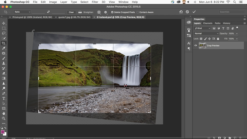 Adobe PS Content Aware Crop