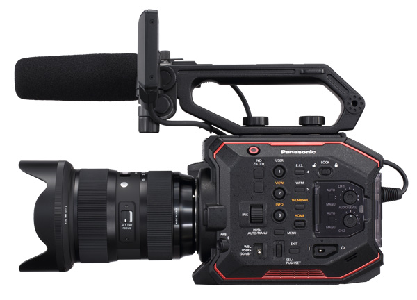 Panasonic AU EVA1 Side