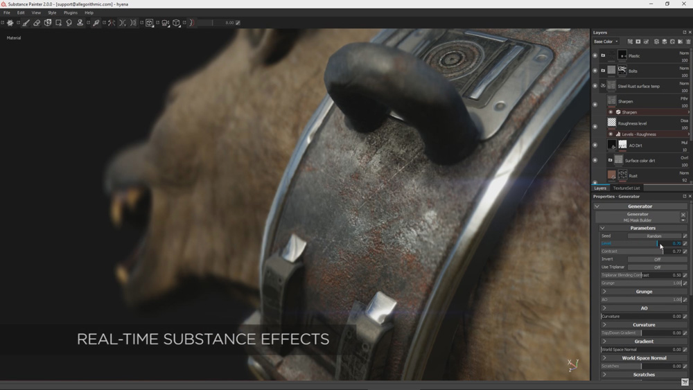 Substance painter 2 0 Realtime Substance fx