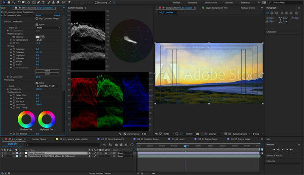 Adobe After Effects Lumetri Scopes