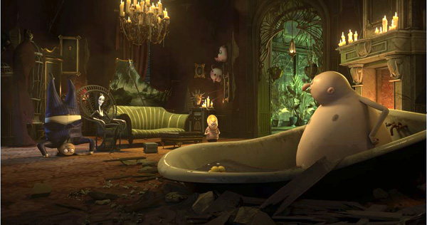 Cinesite addams bathtub