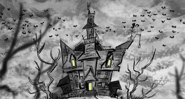 Cinesite addams mansion art